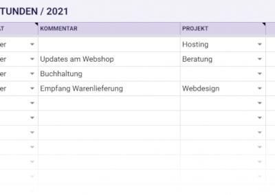 arbeitsstunden ea tabelle 2021