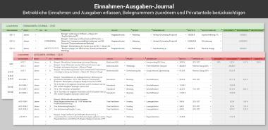 Einnahmen Ausgaben Journal in der EA-Tabelle