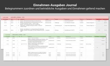 Einnahmen-Ausgaben-Journal in der KU-Tabelle