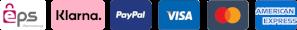Bezahlungsmethoden EPS Überweisung, Sofortüberweisung, PayPal, Visa, MasterCard, American Express